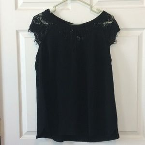 Brixon Ivy Jarred Lace detail cap sleeve blouse